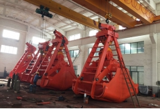 40T iron-nickel ore four rope&double flap grab